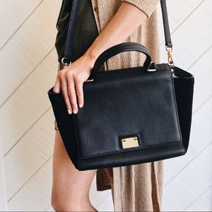 Kate Spade Leather Suede Trapeze Bag